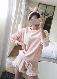 1区2017冬季新款韩国服装babinpumkin品牌时尚可爱休闲睡衣(2017.12月)