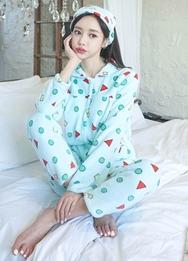 1区2017冬季新款韩国服装babinpumkin品牌可爱时尚新款睡衣(2017.12月)