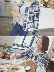 1区韩国代购正品验证babirolen-BAJK00755791-图案短款休闲新款百搭时尚夹克