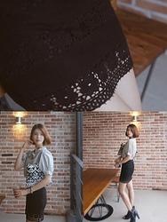 1区韩国代购正品验证babirolen-BASS00761800-淑女气质魅力修身短裙