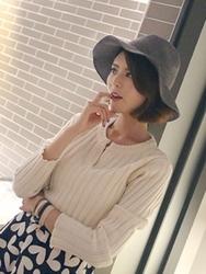 1区韩国代购正品验证babirolen-BAKN00766293-宽松简单舒适新款百搭针织衫