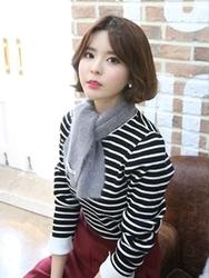1区韩国代购正品验证babirolen-BAKN00831328-韩国休闲条纹印花针织衫