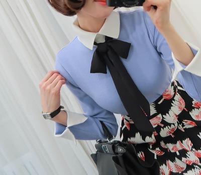 babirolen-时尚都市女孩春季针织衫