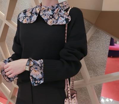 babirolen-亮丽色彩感春季圆领针织衫