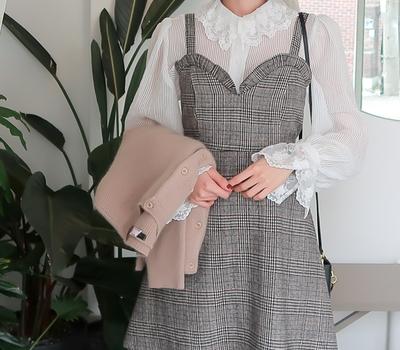 babirolen-魅力十足纯色雪纺衫