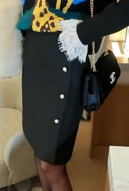 1区2017冬季新款韩国服装babirolen品牌韩版魅力纯色中裙(2017.11月)