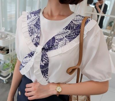 1区韩国本土服装代购(韩国圆通直发)babirolen-围巾点缀韩版衬衫(2018-07-10上架)