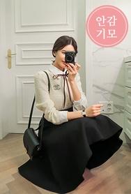 2018新款韩国服装babirolen品牌日常魅力纯色中裙(2018.1月)