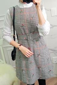 2018新款韩国服装babirolen品牌时尚流行格纹连衣裙(2018.1月)