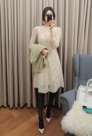 2018新款韩国服装babirolen品牌时尚流行蕾丝连衣裙(2018.1月)