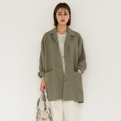 1区韩国本土服装代购(韩国圆通直发)Banharu-大口袋宽松夹克(2018-04-20上架)
