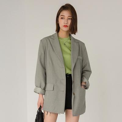 1区韩国本土服装代购(韩国圆通直发)Banharu-3纽扣正装夹克(2018-04-20上架)