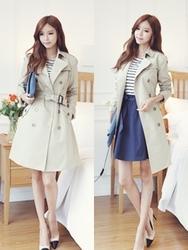 1区韩国代购正品验证bongjashop-BJCT00755854-韩版高档魅力人气流行时尚大衣