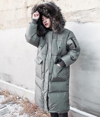 1区韩国本土服装代购(韩国圆通直发)boomstyle-长版时尚保暖羽绒服(本商品非新品请联系客服核对再下单-14上架)