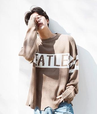 boomstyle-男士帅气字母魅力针织衫