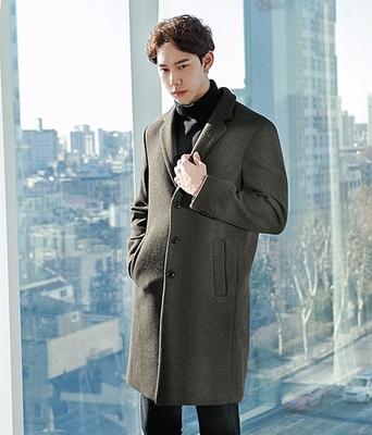 boomstyle-男士帅气纯色舒适高档大衣