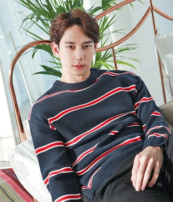 boomstyle-男士条纹帅气时尚针织衫