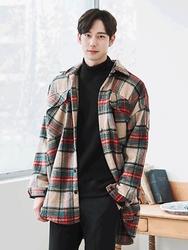 1区2017冬季新款韩国服装boomstyle品牌韩版格纹秀气衬衫大衣(2017.12月)