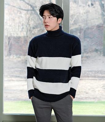 1区韩国本土服装代购(韩国圆通直发)boomstyle-韩版舒适格子针织衫(2018-04-14上架)