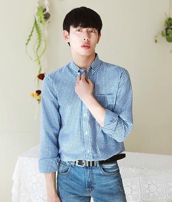 boomstyle-韩版舒适格子衬衫