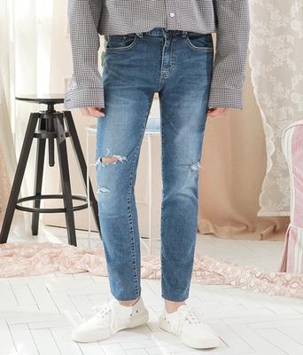 1区韩国本土服装代购(韩国圆通直发)boomstyle-韩版舒适直筒牛仔裤(2018-04-14上架)