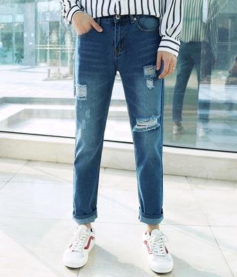 1区韩国本土服装代购(韩国圆通直发)boomstyle-韩版时尚个性牛仔裤(2018-04-14上架)