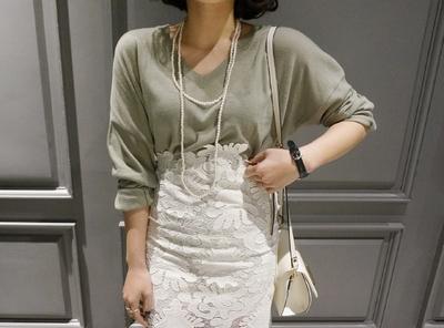 candyglow-纯色韩版春季魅力针织衫