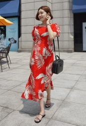 candyglow-韩国优雅魅力夏季女性韩国代购正品连衣裙女装2017年06月21日06月款