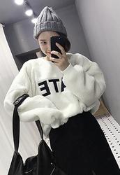 2018新款韩国服装candyglow品牌字母时尚保暖冬季卫衣(2018.1月)