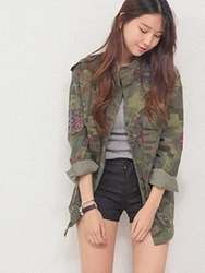 1区韩国代购正品验证cherrykoko-CHJK00755779-流行魅力韩版新款夹克