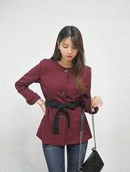 1区韩国代购正品验证cherrykoko-CHJK00755773-流行魅力韩版纯色夹克