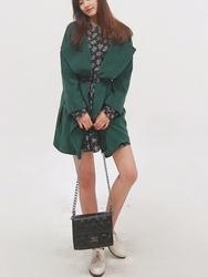 1区韩国代购正品验证cherrykoko-CHCT00755810-魅力韩版新款纯色大衣