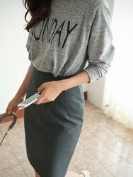 1区韩国代购正品验证cherrykoko-CHSS00766038-流行魅力韩版纯色短裙