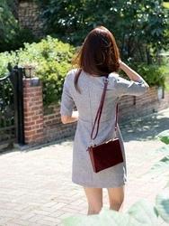 1区韩国代购正品验证cherrykoko-CHOP00766019-优雅魅力韩版纯色连衣裙