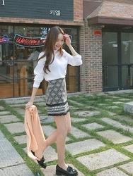 1区韩国代购正品验证cherrykoko-CHSS00766014-明朗魅力韩版新款短裙