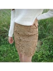 1区韩国代购正品验证cherrykoko-CHSS00766012-时尚魅力韩版花纹短裙
