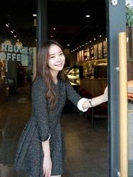 1区韩国代购正品验证cherrykoko-CHOP00766013-流行魅力韩版纯色连衣裙