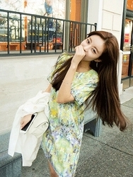 1区韩国代购正品验证cherrykoko-CHOP00849212-淑女魅力韩版花纹连衣裙