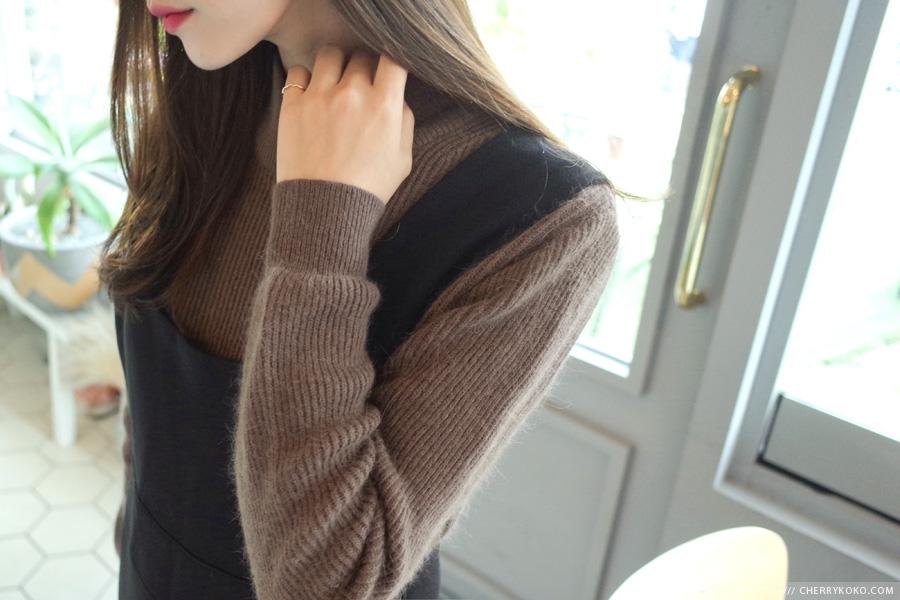 WWW_2KOKO_COM_cherrykoko-韩国短款秋季简约半高领韩国代购毛衣针织衫女装2016年10