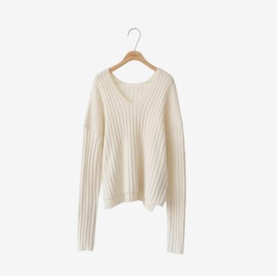 CRKO-韩国人气v领时尚针织衫