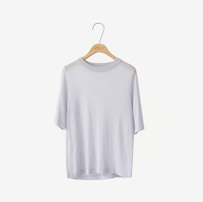 cherrykoko-简单韩版纯色针织衫