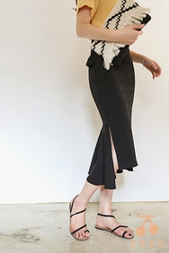 cherrykoko-韩国时尚魅力开衩韩国代购长裙女装2017年08月02日08月款