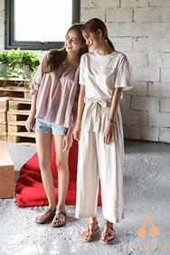 cherrykoko-韩国时尚魅力宽松韩国代购长裤女装2017年08月01日08月款