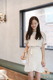 cherrykoko-韩国时尚凉爽魅力韩国代购正品连衣裙女装2017年08月07日08月款