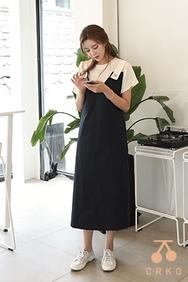cherrykoko-韩国时尚魅力长款韩国代购正品连衣裙女装2017年08月07日08月款