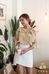 cherrykoko-韩国时尚优雅魅力韩国代购正品衬衫女装2017年08月07日08月款