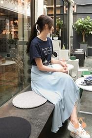cherrykoko-韩国时尚魅力字母韩国代购T恤女装2017年08月09日08月款