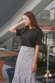 cherrykoko-韩国时尚宽松圆领韩国代购T恤女装2017年08月09日08月款