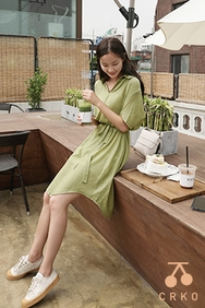 cherrykoko-韩国时尚宽松舒适韩国代购正品连衣裙女装2017年08月09日08月款
