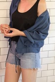 cherrykoko-韩国时尚宽松舒适韩国代购正品衬衫女装2017年08月14日08月款